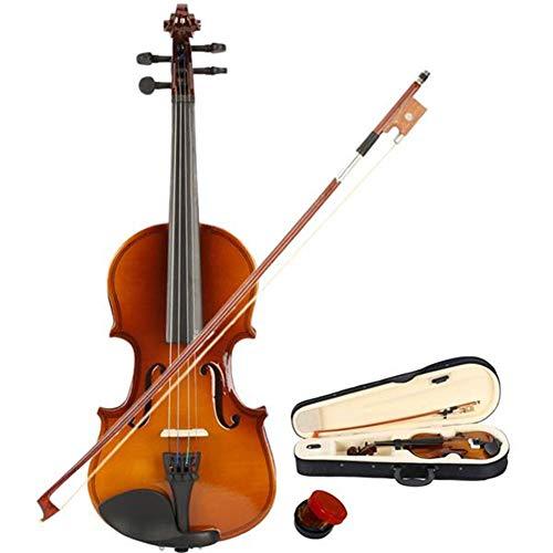 LOIKHGV Geige- Akustische Violine in 1/8 Größe mit feinem Bogen Kolophoniumbrücke für Basswood Steel String Arbor Bow im Alter von 4 bis 5 Jahren, wie abgebildet
