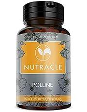 NUTRACLE Polline D'Api 100 compresse da 400 mg | Integratore nutrizionale completo e naturale | Ricco di proteine, aminoacidi, vitamine, minerali e nutrienti