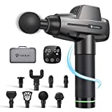 Massage Gun Deep Tissue, Vigorun Professional Percussion Massager with 20 Speed Levels 8 Massage Heads, Powerful Handheld Muscle Massage Gun for Athletes, Muscle Pain Relief in Gym Office Home
