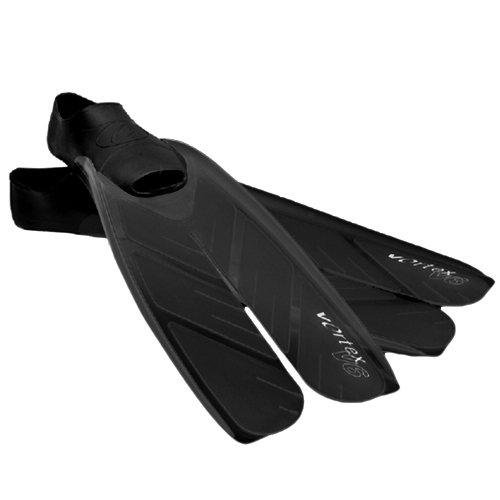 Oceanic Vortex V-6 Full Foot Split Fins, BLACK,...