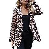 ORANDESIGNE Mujer Blazer Traje De Chaqueta Ropa Trabajo Casual OL Oficina Negocio con Bolsillo G Leopardo XS