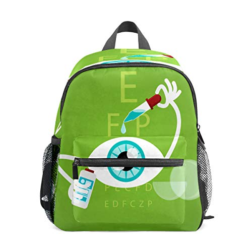 Kinder-Rucksack für Vorschule, für Jungen und Mädchen, leicht, für 1–6 Jahre, perfekter Rucksack für Kleinkinder im Kindergarten, lustige Cartoon-Augentropfen