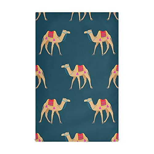 HJHJJ Küchengeschirrtuch Set 4 Kamel Cartoon Muster auf Küchentuch Large28''x18 '' Küchentücher, Geschirrtücher, dekorative Waffeltücher, Handtücher, Geschirrtücher