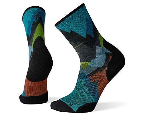 Smartwool Men's Performance Athletic Calf Crew Socks - PhD Pro Endurance Print MULTI COLOR XL