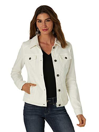 Wrangler Authentics Women's Stretch Denim Jacket, White, Small