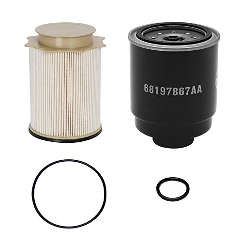 6.7L Cummins Fuel Filter Water Separator Set | Replacement for 2013-2018 Dodge Ram 2500 3500 4500 5500 6.7L Cummins Turbo Diesel Engines | Replaces# 68197867AA, 68157291AA