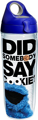 Tervis Made in USA Double Walled Sesame Street Insulated Tumbler Cup Keeps Drinks Cold & Hot, 24oz Water Bottle, Did Somebody Say Cookie
