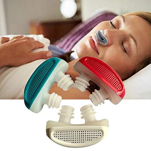 DDG EDMMS 1pc Anti-ronquidos Dispositivo ronquidos Ayuda 2 en 1 torniquete ronquidos y la respiración purificador de Aire Nasal de ventilación solución esputo cavidad dilatador Nasal, sueño conf