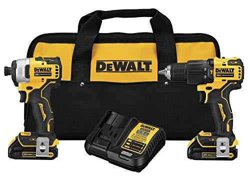 DEWALT ATOMIC 20V MAX Combo Kit with Hammer Drill & Impact Driver, 2-Tool (DCK279C2)