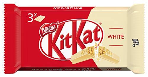 Nestlé KitKat chocolate blanco - Barritas de chocolate blanco, snack de chocolate multipack 24x(3x41,5g)