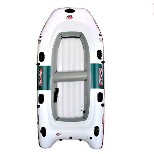 GUOE-YKGM Kayak Schlauchboot Outdoor Bequemes Kajakfahren Freizeit Faltboot 2-4 Personen Schlauchboot Marinesport Angeln Abenteuer 270 * 130cm Weiß