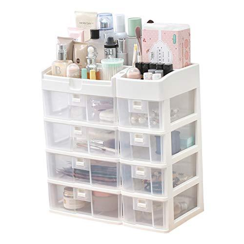 Sets et coffrets Tiroir de Rangement cosmétique avec Support de Maquillage Rangement de Bureau (Color : Blanc, Size : 40 * 22 * 42cm)