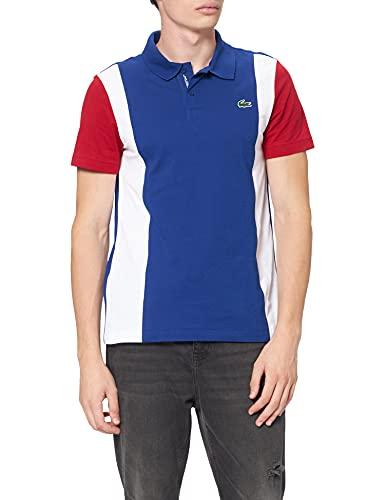 Lacoste YH7349 Camisa cuello Bord-Cotes Ma, Cosmique/Blanc-Coccinelle, M para Hombre