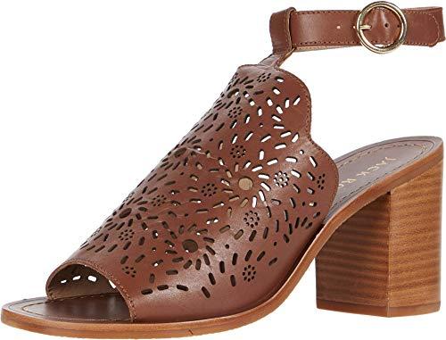 Jack Rogers Womens Ronnie Leather Open Toe Heel Sandals Brown 5 Medium (B,M)