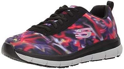 Skechers Women's Comfort Flex Sr Hc Pro Health Care Professional Shoe,black/multi,8 M US