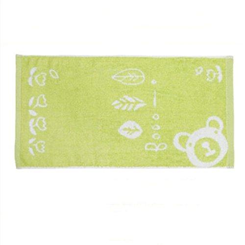 MXJ61 Mouchoir d'enfant de nouveau-nés de serviette de bébé essuient les bavoirs de visage 26 * 48CM ( Couleur : Vert , taille : 1 Pcs )
