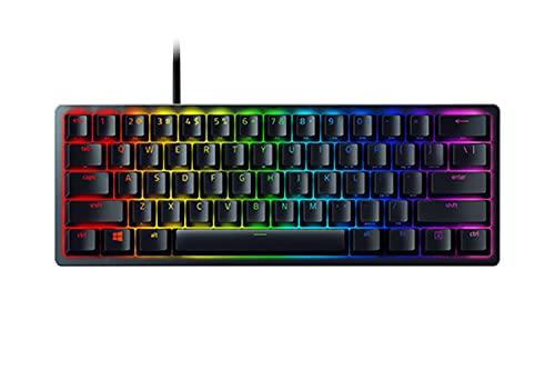 Razer Huntsman Mini (Red Switch) - Kompakte 60% Gaming Tastatur mit schnellen linear opto-mechanischen Schaltern (PBT-Tastenkappen, abnehmbares USB-C Kabel) QWERTZ | DE-Layout, Schwarz