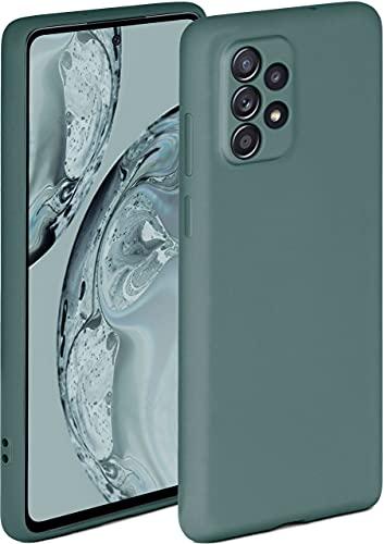 ONEFLOW Soft Hülle kompatibel mit Samsung Galaxy A52 / A52s 5G Hülle aus Silikon, erhöhte Kante für Displayschutz, zweilagig, weiche Handyhülle - matt Petrol
