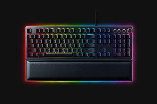Razer Huntsman Elite - Teclado (Estándar, Alámbrico, USB, Opto-Mechanical Key Switch, LED RGB, Negro)
