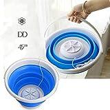 ポータブル超音波タービンウォッシャー、ミニ洗濯機、USB電源、ノイズのない超音波洗浄、赤ちゃんの服が感染を防ぐために適しています折りたたみ式ランドリータブ5L / 10L (Color : Blue, Size : 5 L)
