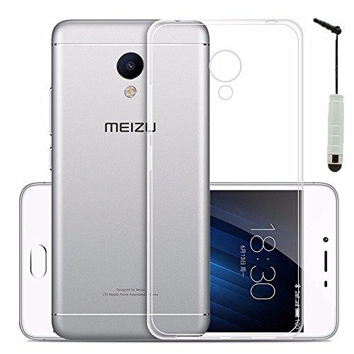 VComp-Shop® Ultra dünne Silikon Handy Schutzhülle für Meizu M2 Note + Mini Eingabestift + GRATIS Displayschutzfolie - TRANSPARENT