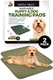 Millie Mats Washable Dog Training Pee Pads 2 Pack. Leak Proof to Protect Floors, Bed, Crate from Pee Accidents. Absorbent Indoor Potty for Puppies. Use for Incontinent, Senior or Sick Dogs. 28' x 31'
