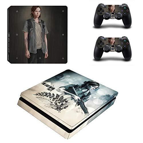 WANGPENG The Last of Us Part 2 PS4 Slim Skin Sticker pour Playstation 4 Console et contrôleur pour Dualshock 4 PS4 Slim Sticker Decal