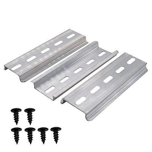 """mxuteuk 3 Stk. DIN-Schiene Schlitz Aluminium RoHS 4""""Zoll lang 35 mm breit 7,5 mm hoch MXU-DIN-100"""