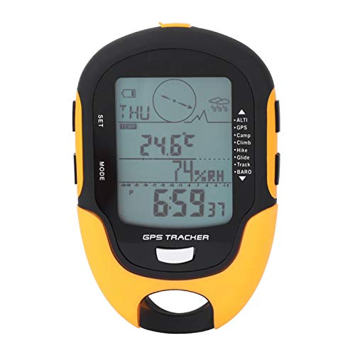 Yosoo Health Gear Altímetro Digital Barómetro Brújula Multifunción Receptor de navegación GPS Impermeable Portátil USB Recargable Higrómetro Barómetro para Deportes al Aire Libre, Sunroad FR-510