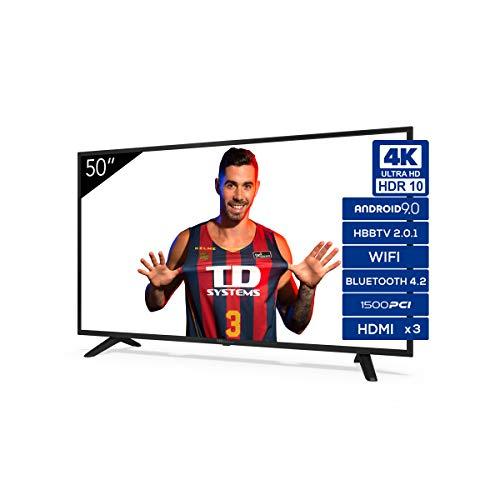 Televisiones Smart TV 50 Pulgadas 4K Android 9.0 y HBBTV, 15