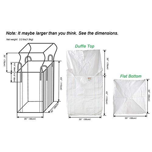 nouler Juler Sac de Construction en Fibre de Fibre 2 à 2,5 tonnes et Sac de Rangement pour déchets de Jardin