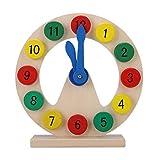 Hztyyier Kalenderuhr aus Holz, Baby Kinder aus Holz Uhr Spielzeug Kinder Anzahl Zeit Früherziehung Geschenk für kleine Jungen Mädchen