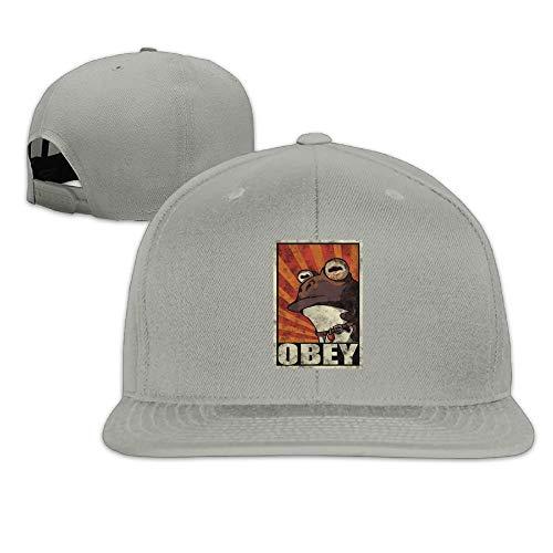 ghkfgkfgk Funny Frog Obey Hypnotoad Snapback Adjustable Camper Cap Hat Natural