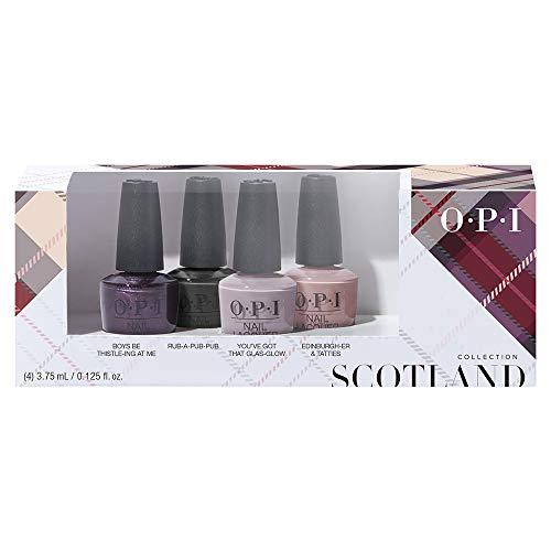 OPI Scotland Collection, Nail Lacquer 4 Piece Mini Pack, 0.5 fl. oz.
