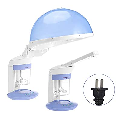 2 In 1 Hair Therapy Steamer Salon Home Ozone Steaming Ion Sparyer Skin Beauty Care Machine, Facial Steamer and Hair Steamer, Personal Care Use At Home or Salon