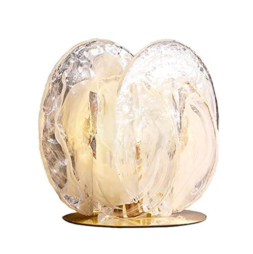 Lámparas de mesa Arte creativo vidrio de mesa de noche lámpara de mesita de noche moderna personalizada mesita de noche lámpara dormitorio sencilla de noche lámpara de cama estudio estudio lámparas de