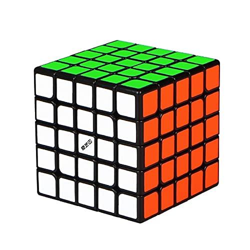Oostifun FunnyGoo M Versión 5x5 M Magic Cube Puzzle 3D Smooth Turning Cube Negro + Soporte de Cubo y Bolsa de Cubo