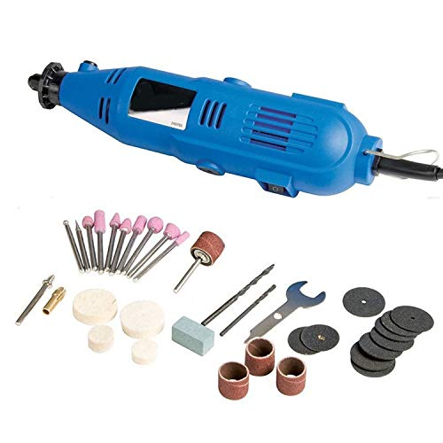 Multipurpose Rotary Tool - 100 Piece Hobby Precision Drill | 135w Motor | 220-240v With Uk 3pin Plug | Perfect For Detailed Cutting, Grinding, Polishing