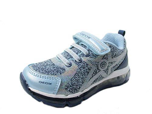 Geox Jungen Mädchen J Android Girl B Sneaker, Blau (Avio/Crystal), 29 EU