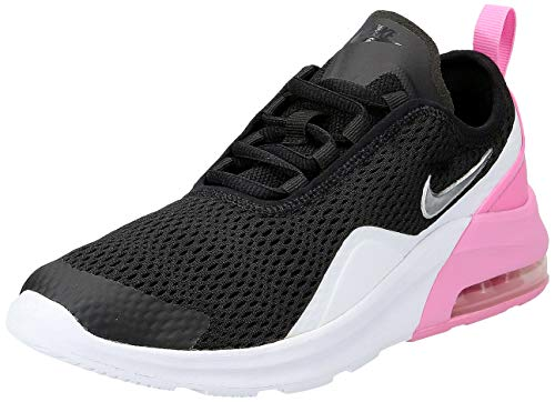 Nike Girl's Air Max Motion 2 Shoe Black/Metallic Silver/Psychic Pink/White Size 5 M US