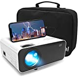 Proiettore Portatile, Waygoal Native 720P 5500 lumens Mini Proiettore, 1080P Full HD supporta Videoproiettore con Borsa, 60000 ore LED compatibile con TV Stick/HDMI/iOS/Android/Laptop/TV Box/PS4/USB