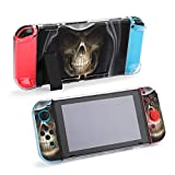 Smile of Grim Reaper Skull Case Dockable Protective Case Cover for Nintendo Switch and Joy-Con Controller