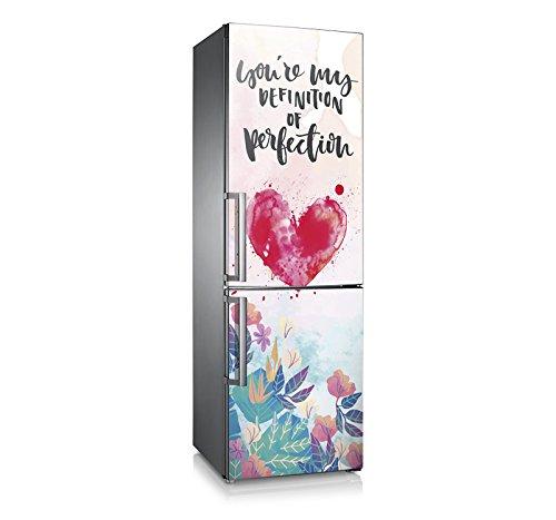 Vinilo para nevera | Stickers Fridge | Pegatina Frigo | Love Perfection (185x60)