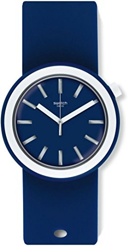 Swatch Damen Analog Quarz Uhr mit Silikon Armband PNN103