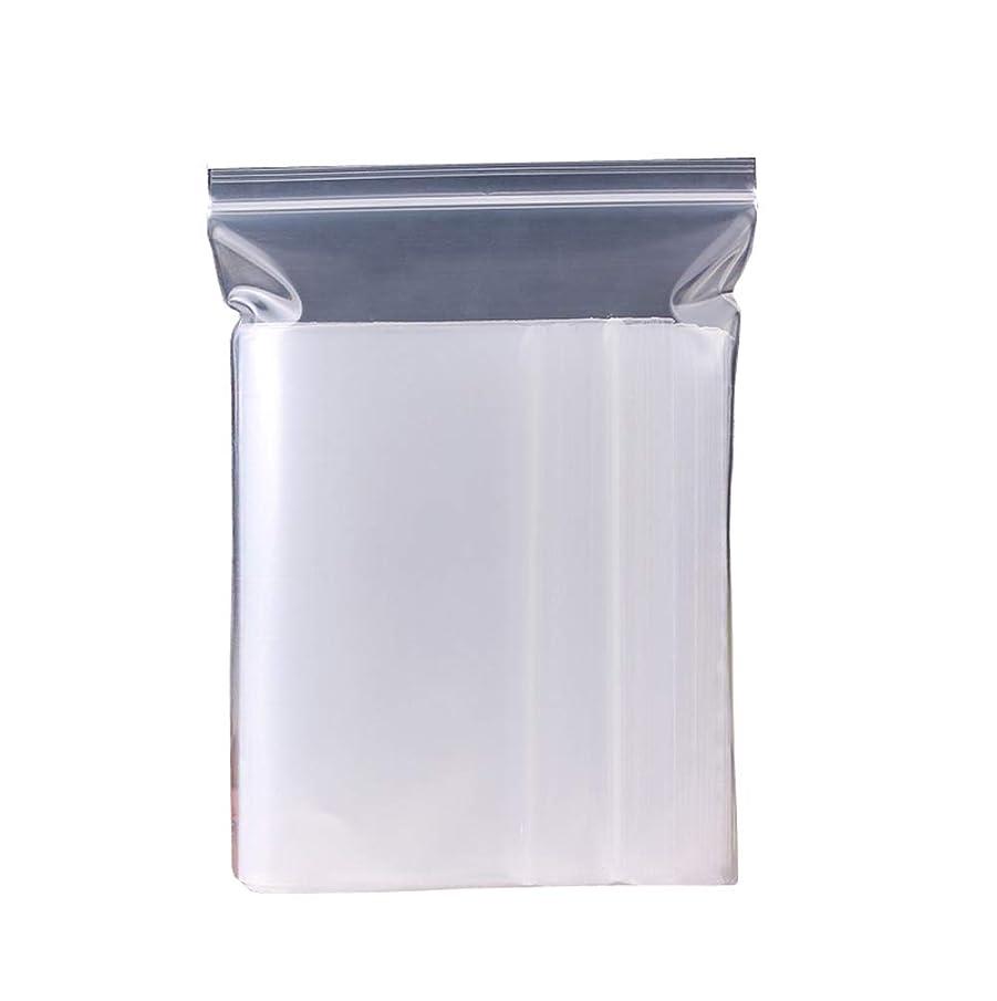 吐き出す注ぎます側透明厚手再利用可能プラスチックセルフシールバッグ 100枚 PEシールポケット ホワイト 小型 ジップロックブロック 収納 小物 食品包装バッグ サンプル ジュエリー ビーズ ギフトラッピングバッグ 5x7cm 透明 FF88465T