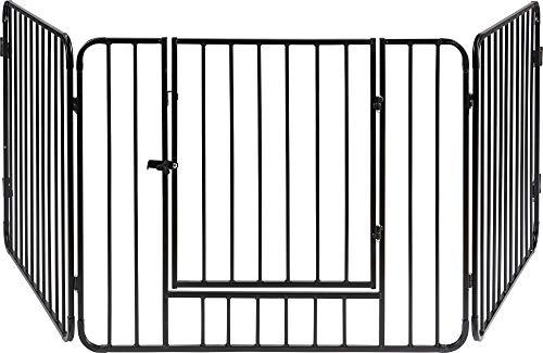 ib style®BLAKE | Kaminschutzgitter | Absperrgitter | 3 Elemente | Tür mit Sicherheitsverschluss