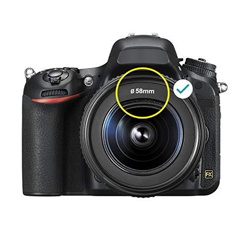 Neewer 58MM Objektiv und Filter Kit für Canon EOS EF-S 18-55mm Objektiv: 0,43X Weitwinkel Teleobjektiv UV CPL FLD Filter und Makrofilter Set Gegenlichtblende usw