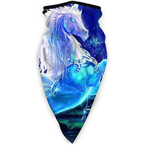 Dream Blue Unicorn Art Wings Unisex Adult Neck Windproof Mask Dust Sports Face Mask Half Balaclava Ski Mask Cold Weather Bandana Women Men Outdoors Festivals