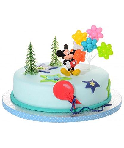 Partydeko Stefino Tortendeko Mickey Mouse 4 teiligTortenaufleger 1 Geburtstag Kindergeburtstag Kuchen Deko