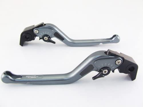 Las Vegas Mall Strada 7 Shipping included Racing Carbon Long Adjustable Pair Suzu Grey Levers For